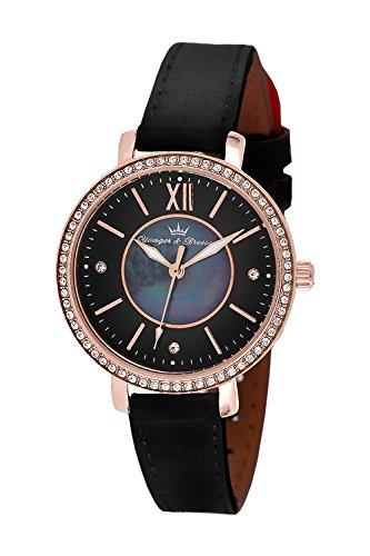 YONGER&BRESSON Femme Date Standard Quartz Montre avec Bracelet en Cuir DCR 049S/AA