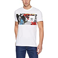 adidas Panel Pocket Te Camiseta, Hombre, Blanco, XS