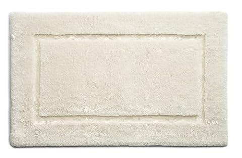 Hug Rug Bamboo Border 100% Organic Cotton Bathroom Mat, Cream, 60 x 100 Cm