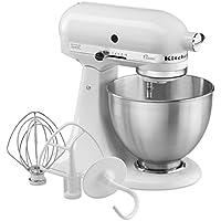 """Kitchenaid 5K45SSEWH Série """"Classic"""" Robot Mixeur Multifonctions Blanc"""
