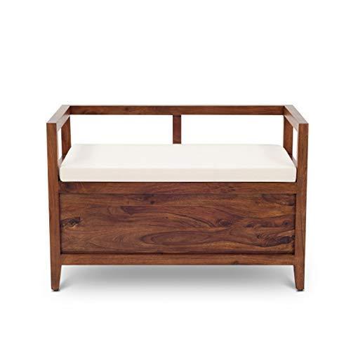 Ganpati Arts Sheesham Wood Storage Bench for Home
