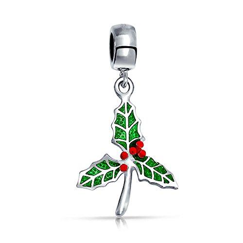 Bling Jewelry Weihnachtsfeiertag Küssen Mistel Holly Charm Bead Charms Für Damen Jugendlich Sterling Silber Passt Europäischen Armband