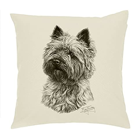 Cairn Terrier dog Cushion Cover / pillow 18' Mike Sibley design'