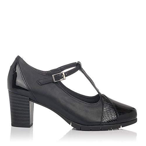 PITILLOS 5764 Zapato Vestir Tacon Alto Piel Mujer Negro 37