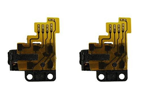 com-four® Audio Jack Flex Kabel Kopfhörer Klinkenbuchse für iPod Touch 3 3G Schwarz Ersatzteil (2 Stück) Ipod Touch Jack