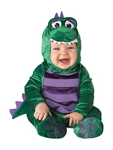 Baby Kostüm Deluxe Baby Jungen Dinky Dinosaurier Tiere Halloween Verkleidung Outfit - Grün, EU (Halloween Kostüme Dino)