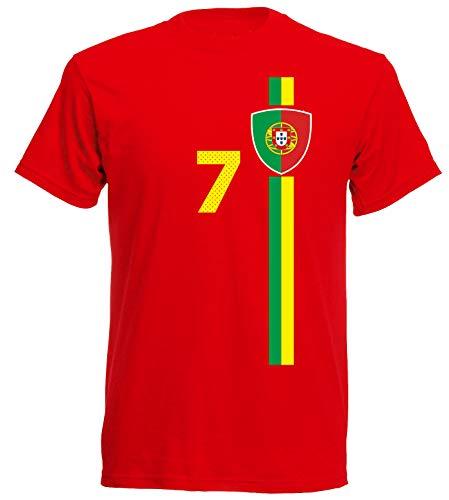 aprom Portugal Kinder T-Shirt Trikot Royal Croatia Kids No.7 WM EM Fussball Sport St-1 Fan Supporter (116)