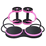 MrEMStrainer AB Wheel Musculation Abdo avec Roue Exercice Fitness Exercice Roulette...