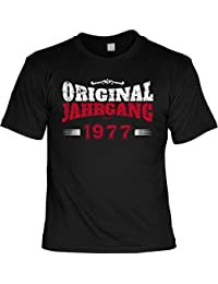 lustiges Herren T-Shirt zum 40 Geb. Jahrgang 1977 - zum 40 Geburtstag Geschenk - Motiv in Vintage bedruckt mit Geburtsjahr 1977 : )