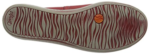 Softinos Ilma Washed, Ballerine Donna Rosso (Rot (red 522))