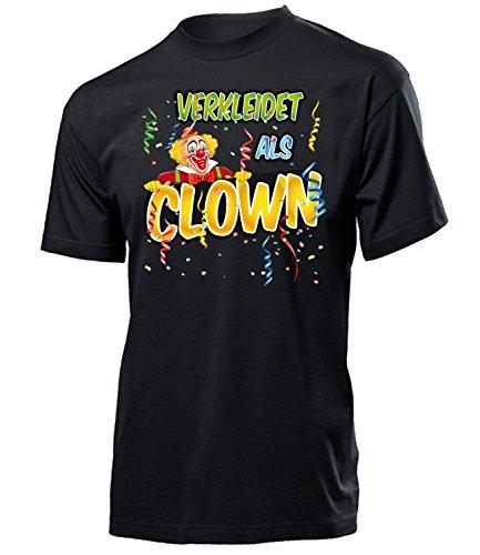 Kostüm Clown Paar - Clown 4903 Karneval Fasching Kostüm Herren Männer Paar Gruppen Outfit Klamotten Oberteil Clownkostüm T-Shirt Karneval Faschings Karnevals Schwarz M