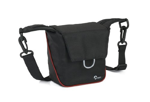 Lowepro Compact Courier 80 Kamerataschee für Systemkameras schwarz/rot -