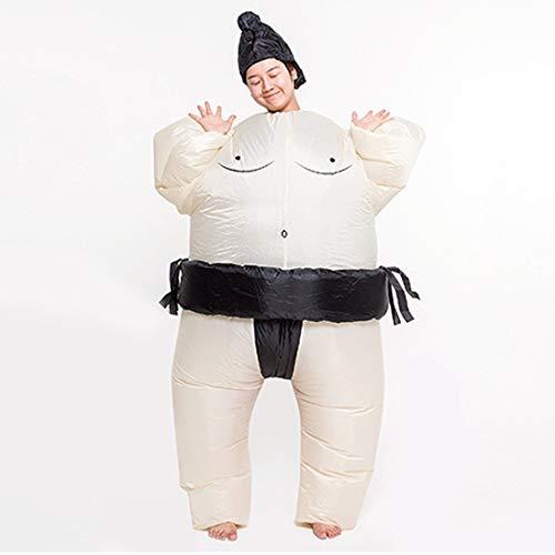 1949shop Aufblasbare Fat Chub Funny Anzug Sumo Wrestler Kostüm Cosplay Outfit Blow Up Halloween Party Kostüm (Sumo Wrestler-Erwachsene)