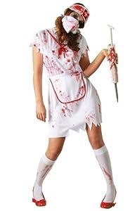 Guirma 80482 - Disfraz enfermera zombie para adultos (talla 42-44)