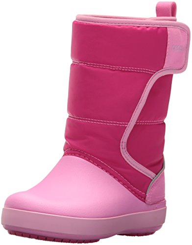 Crocs LodgePoint Snow Boot Kids, Unisex - Kinder Schneestiefel, Pink (Candy Pink/party Pink), 33/34 EU