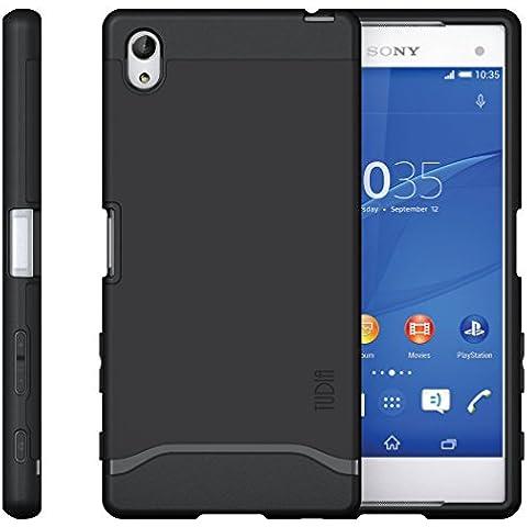 Sony Xperia Z5 Premium Funda, Caja protectora TUDIA Slim-Fit MERGE de doble capa para Sony Xperia Z5 Premium (Negro Mate)