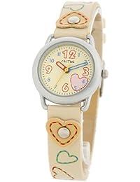 Cactus CAC-20-L11 - Reloj 0 infantil de cuarzo con correa de plástico beige - sumergible a 10 metros