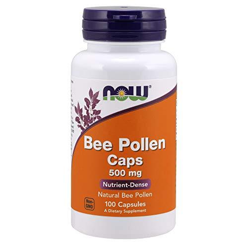 NOW Foods Bee Pollen, 500mg, 100 Capsules