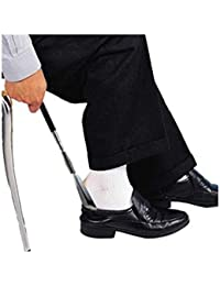 Calzador de Zapatos Largo 75 Cm Plegable Metalico Niño Hombre Mujer Mango Extensible Viaje