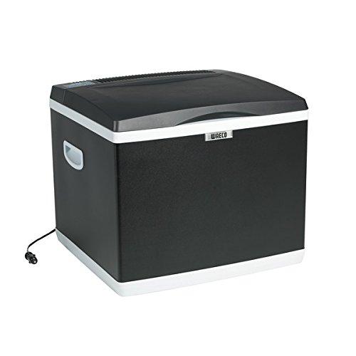 Cool Fun CK 4O d'– WAECO – Hybride pour 12 V (Thermo électrique) et pour 230 volts (Compresseur) – Contenance 40 L – Distribution par – Holly® produits Stabielo® – Holly-Sunshade® – Innovation brevetée dans le domaine Mobile universel Protection solaire – Fabriqué en Allemagne – Câble de raccordement 12/24 V Voir ASIN : b01bpetqg8 -