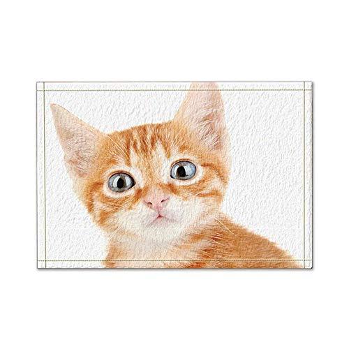 JoneAJ Katze Mit Großen Augen Badteppiche Rutschfeste Bodeneingänge Outdoor Indoor Haustürmatte 60x40 cm Badematte Bad Teppiche (Multi3) (Schokolade-bad-teppich Große)