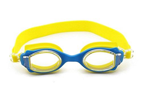 Mzj Kinder Schwimmbrille Wasserdichte Antifog UV Schutz HD Einstellbar Tragbare 3-12 Jahre Alte Männliche Und Weibliche Schwimmbrille,Yellow -