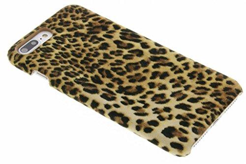 hCase kompatibel mit iPhone 7 Plus/8 Plus Hülle - Leopard, Wildkatze, Tiermuster - Hard Case Handyhülle