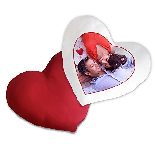 Foto-Herzkissen selbst gestalten mit Bild und Text * hochwertig bedruckt * personalisiertes Geschenk