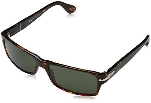 Persol Unisex PO2747S Sonnenbrille, Mehrfarbig (Gestell: havana, Gläser: grün-klar 24/31), Large (Herstellergröße: 57)