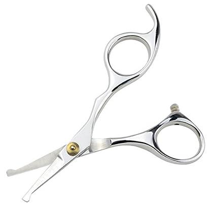 "LILYS PET 5.5"" Stainless Steel Small Ball Tip Facial Hair Scissors for Nose Hair,Ear Hair,Face hair,Paw hair (Symmetrical handle) 2"
