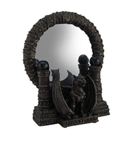 Resina y Vidrio vanidad espejos bronce acabado Gárgola gótica...