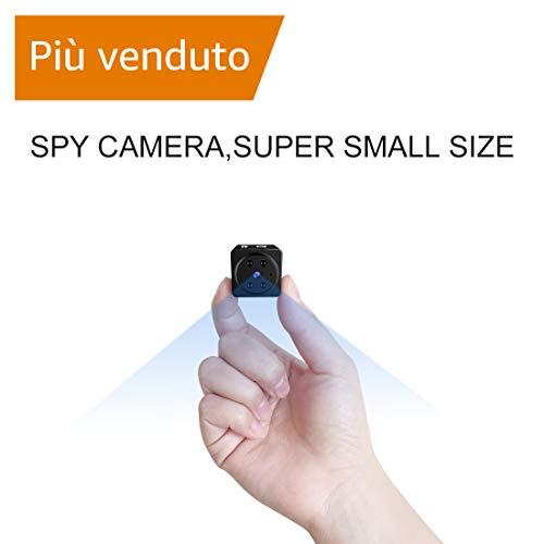 Mini Nascosta Telecamera Spia AOBO 1080P HD Microcamere Interno/Esterno Rilevamento di Movimento Portatile Videocamera di Sorveglianza Video Registrazione in Loop