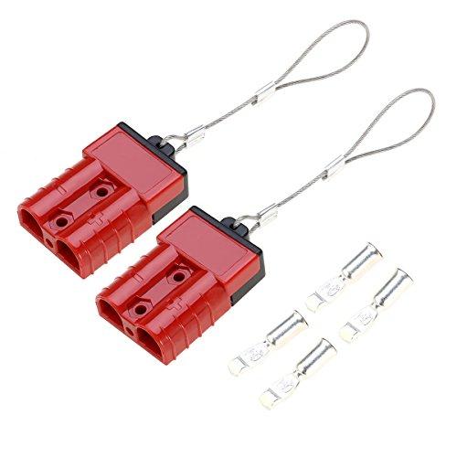 WINOMO batteria Quick Connect, separate la spina elettrica 2-4 Gauge 50 Amps per argani di recupero o rimorchi