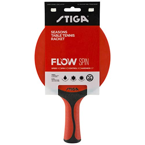 Stiga Unisex-Adult Seasons Flow Spin Red/Black tischtennisschläger, One Size