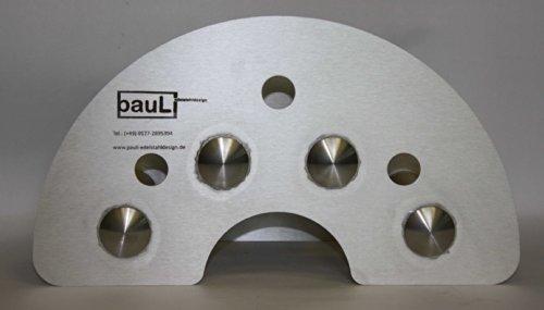 Support pour flexible (modèle moyen) en acier inoxydable (2 mm) pour montage mural avec embouts de la charge les cavités tubes pour la fermer