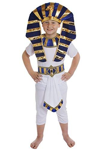 PHARAONEN KINDER KOSTÜME FÜR ÄGYPTISCHE VERKLEIDUNG FÜR MÄDCHEN UND JUNGEN = HISTORISCHE KINDER KOSTÜME FÜR FASCHING UND KARNEVAL ODER FÜR PHARAO UND KÖNIGIN DES NIL VERKLEIDUNGEN = VON ILOVEFANCYDRESS= ALLE DREI KOSTÜME SIND ERHALTBAR IN 4 VERSCHIEDENEN GRÖßEN=PHARAO IN - SMALL