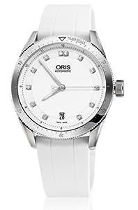 Artix GTDate Diamonds White Dial White Rubber Ladies Watch 733-7671-4191RS