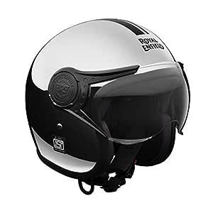 Royal Enfield Chrome Open Face with Peak Helmet Size (XL)62 CM  (RRGHEI000106)