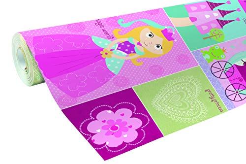 Clairefontaine 211460C Geschenkpapier Alliance (2x0,7m, 60g/qm) 1 Rolle Lollipop Prinzessin