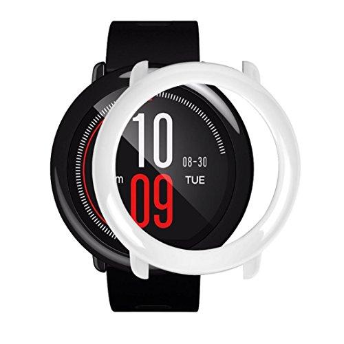 squarex Schutzhülle für Huawei AMAZFIT Smartwatch, schlanker Rahmen, bunt, Sonstige, weiß, AS Show -