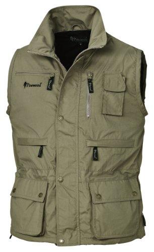Pinewood - Gilet Tiveden, Verde (Khaki chiaro), XL