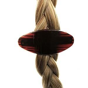 Barrette cheveux ovale grande Marron - grande