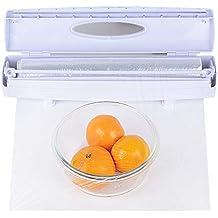 Cortador de Envoltura de Plástico Dispensador Cortador Film Transparente Cocina