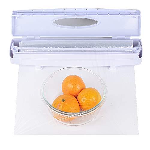 BUONDAC Folienschneider Frischhaltefolie Kunststoff Küchenschneider Folie Folienspender Cling Film Cutter Frischhaltefolienschneider