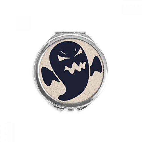 DIYthinker Los fantasmas de Halloween Angry espejo redondo portable de la mano del maquillaje del bolsillo