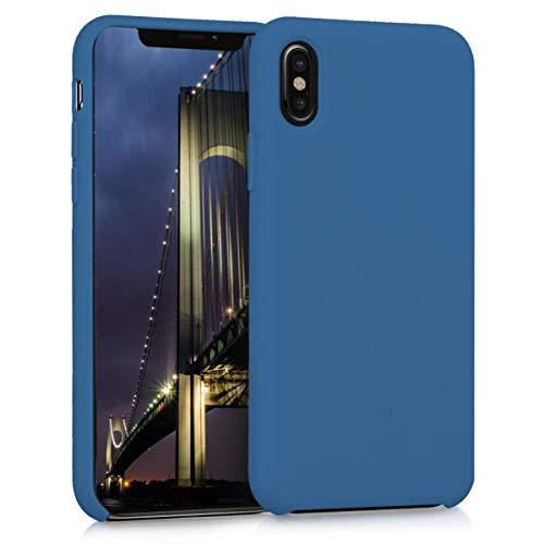 kwmobile Apple iPhone X Hülle - Handyhülle für Apple iPhone X - Handy Case in Marineblau