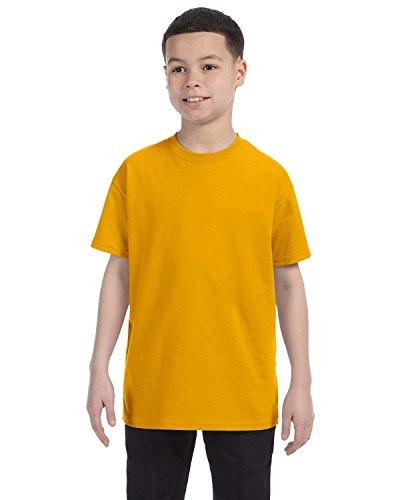 Gildan Gioventù in cotone pesante T-shirt Gold