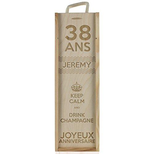 Coffret à champagne personnalisé anniversaire - Keep Calm and Drink Champagne