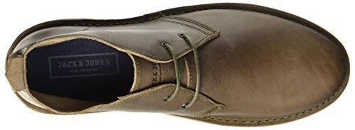 Jack & Jones Jfwgobi Leather Taupe Gray, Desert Boots Homme Gris (Taupe Gray)