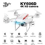 Professionale KY606D RC pieghevole drone aeromobili a lungo tempo di volo FPV elicottero 4K HD telecamera VS KY601S drone con 3 batterie - bianco